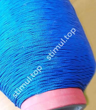 Нитка капроновая 187 текс (Ø 1.2 мм) 1в3 ➜ 1.45 кг х 2180 м ➜ Синяя посадочная нить ➜ Поліамідні нитки, фото 2