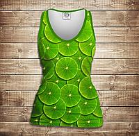 Майка 3D-Green lime