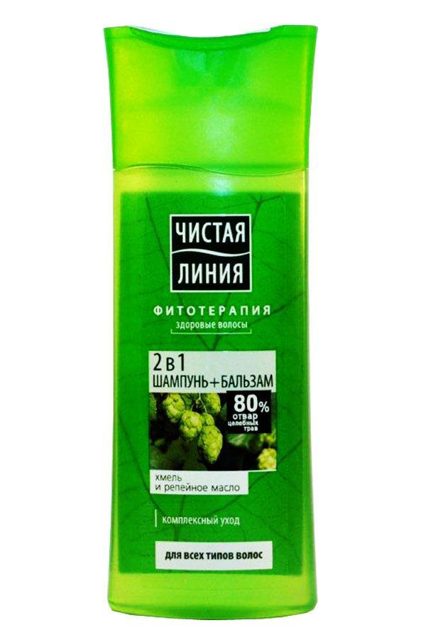 Шампунь для волос Чистая линия 250мл в ассортименте