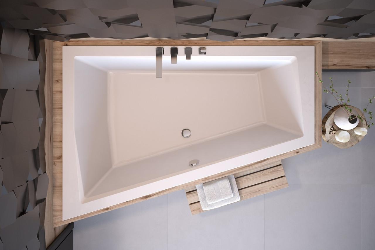 Акриловая ванна Intima Duo Slim 170х125 (левая) Besco PMD Piramida без панели, для облицовки плиткой