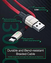 BlitzWolf ® BW-TC21 3A USB Type-C Кабель передачи данных LED индикатор Быстрая зарядка 1м нейлоновый.