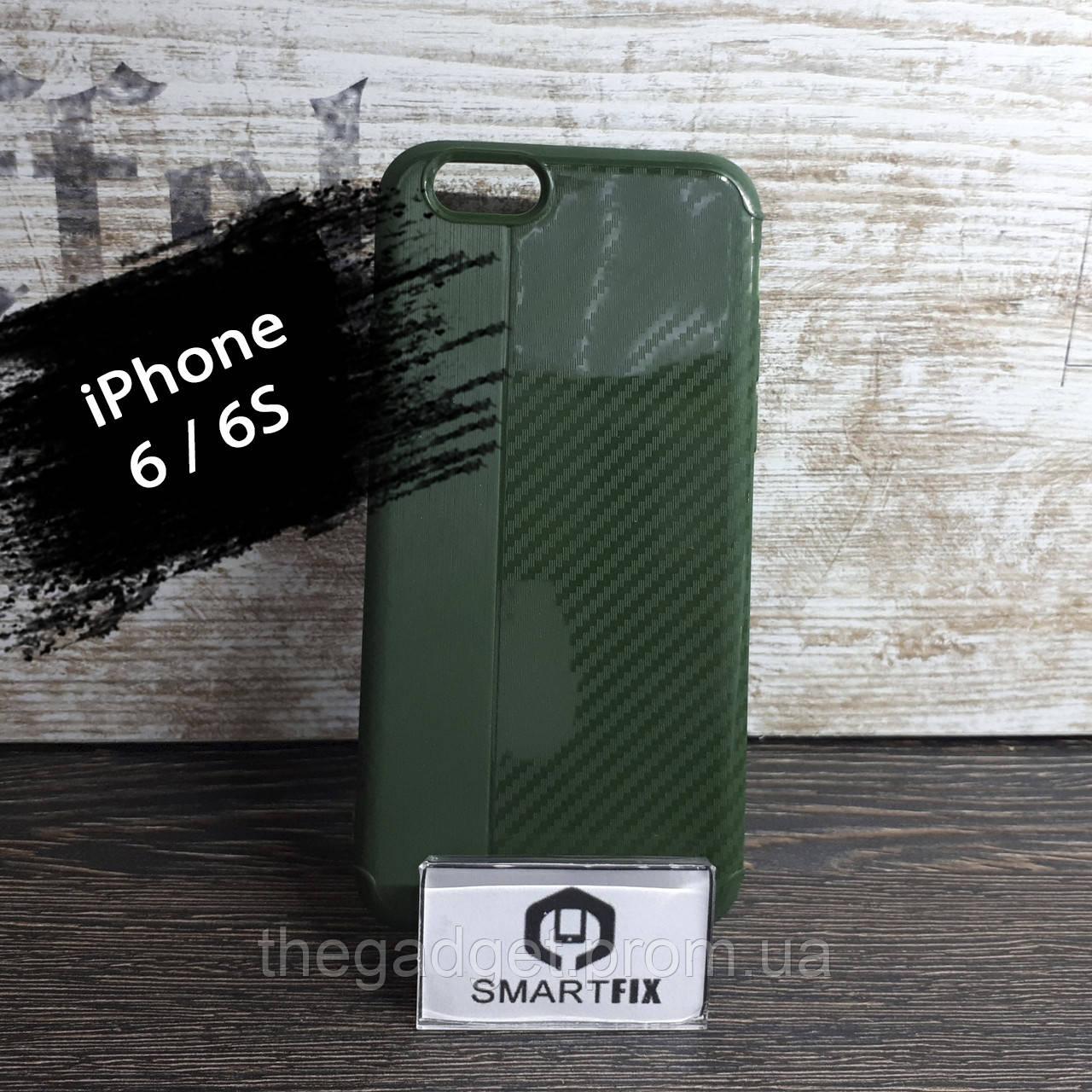 Противоударный чехол для iPhone 6/6S iPaky Carbon Зеленый
