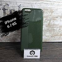 Противоударный чехол для iPhone 6/6S iPaky Carbon Зеленый, фото 1