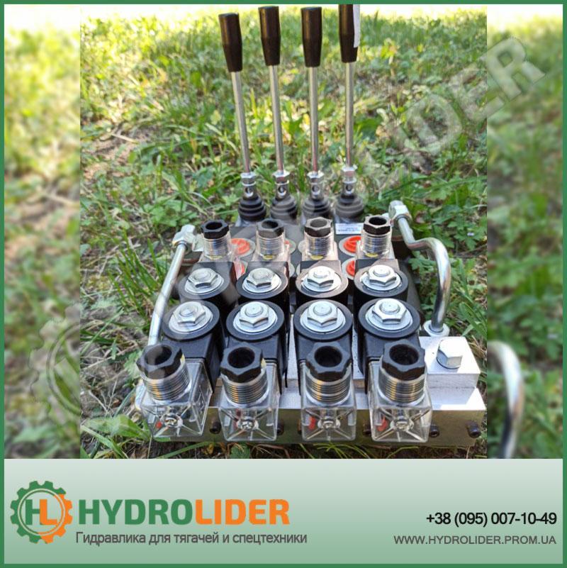 Гидрораспределитель моноблочный 4P80 с электроклапанами 24