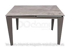 Стол обеденный ALTA (120(+50)*80*76 cm керамика) серый глянец, Nicolas
