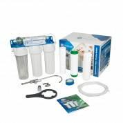 Проточный бытовой фильтр для воды Aquafilter FP3-HJ-K1 (четырехступенчатый, подмоечный)
