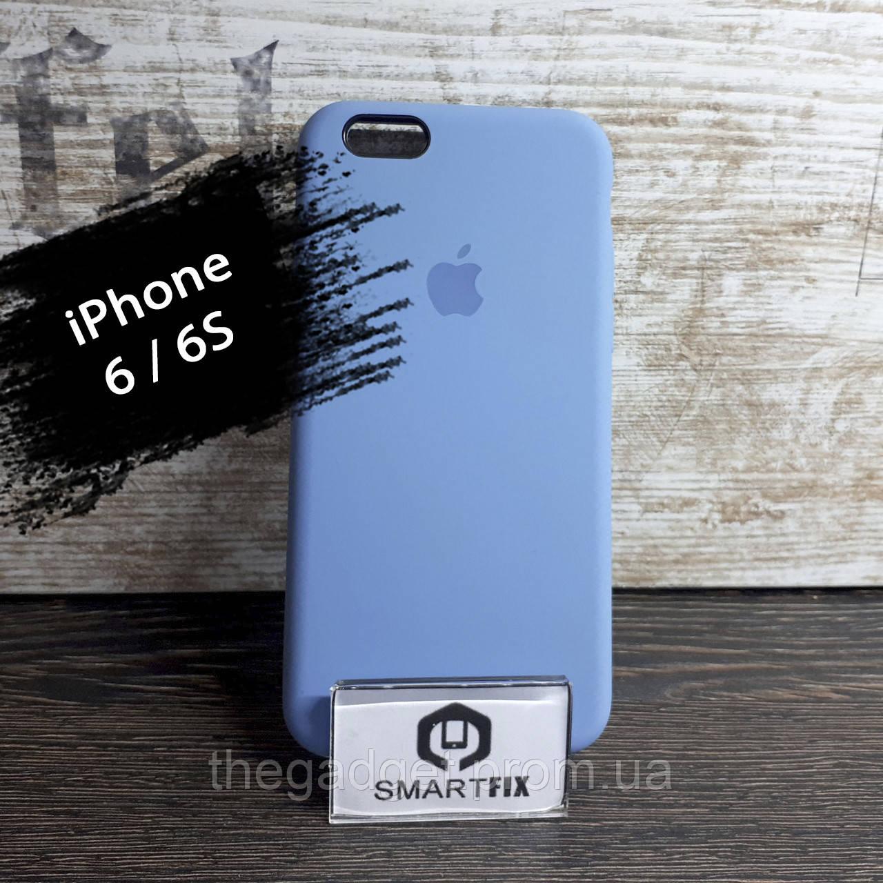 Силиконовый чехол для iPhone 6/6S Soft Голубой