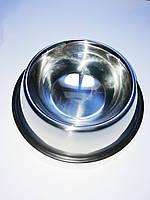 Миска для корма собак металлическая 21,5 см
