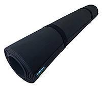 Коврик для йоги и фитнеса «NEWDAY» 1800×600×3мм, EVA, нескользящий Черный