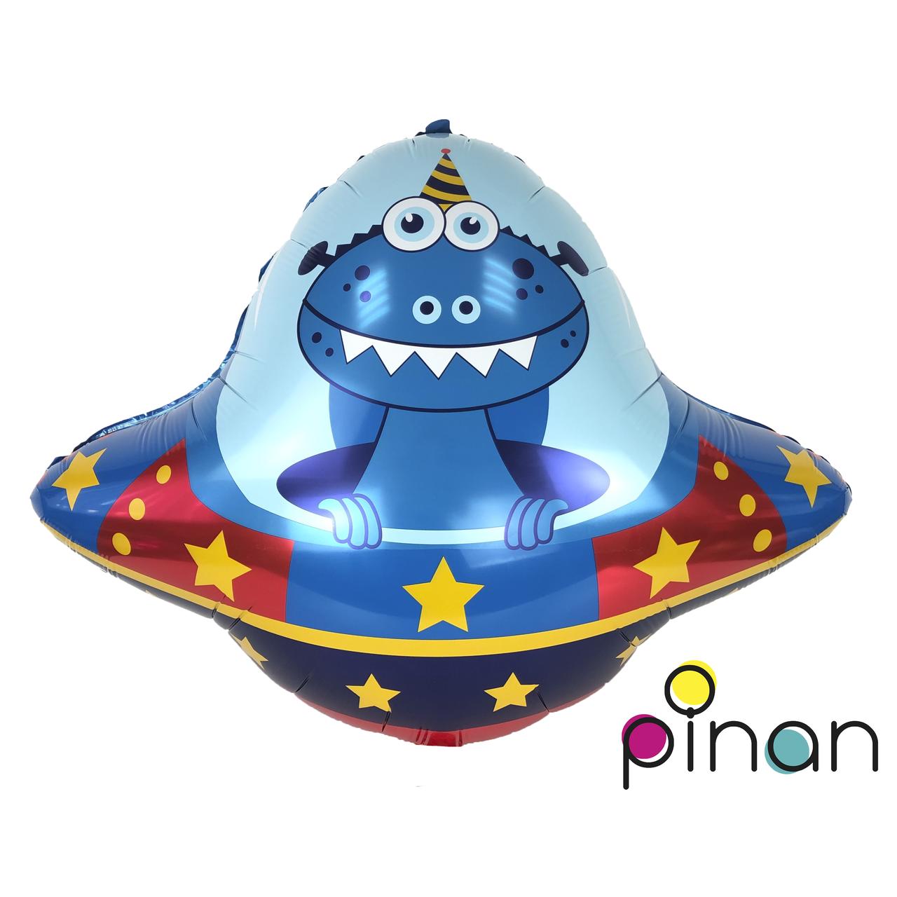 Фольгированный шар 35' Pinan Космос Летающая тарелка в упаковке, 88 см