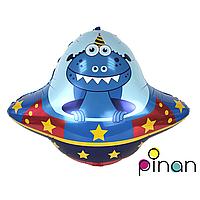 Фольгированный шар 35 Pinan Космос Летающая тарелка в упаковке, 88 см