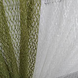 Комплект штори з тюллю Sarmasik. Тканина: турецька сітка на фатине Колір - Оливковий, фото 2