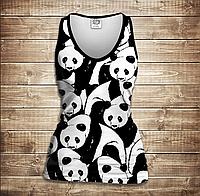 Майка жіноча 3D -Світ панд, фото 1