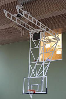 Ферма крепления для щита баскетбольного вертикально-подъемная к потолку