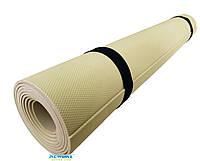 Коврик для йоги и фитнеса «NEWDAY» 1800×600×3мм, EVA, нескользящий Бежевый