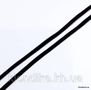 Резинка Трикотажная, 0.3 мм, Цвет: Черный (5 метров)