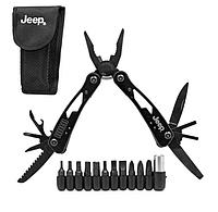 Мультитул инструмент с насадками Jeep R26597 12 в 1 черный