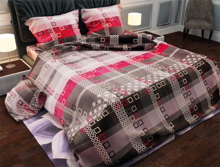Семейный набор хлопкового постельного белья из Бязи Gold №152099 Черешенка (BC4G152099)