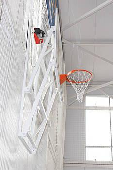 Ферма крепления для щита баскетбольного вертикально-подъемная к стене