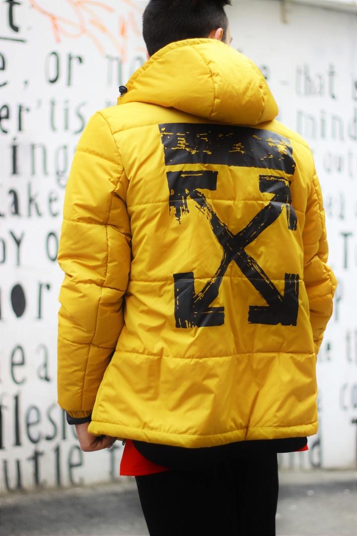 "Мужская демисезонная куртка "". OFW -1 Желто-черная. Men's demi-season jacket "". OFW-1 Yellow-black"