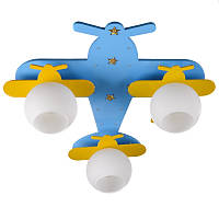 """KL-431C / 3 E27 BL / YL светильник для детской """"Самолет"""""""