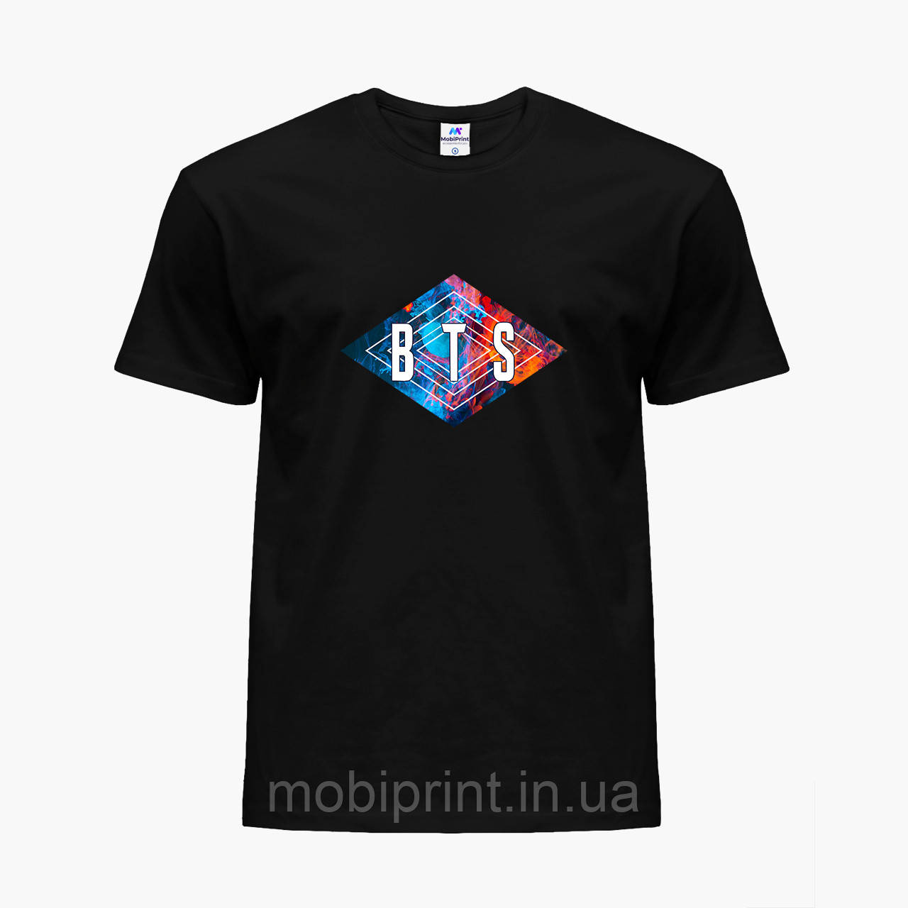 Детская футболка для девочек БТС (BTS) (25186-1062) Черный