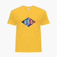 Детская футболка для девочек БТС (BTS) (25186-1062) Желтый, фото 1