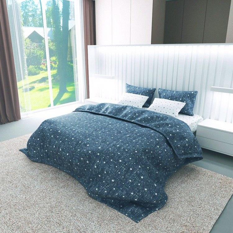Комплект постельного белья Gold Lux Бязь 180x220 (PB021B)