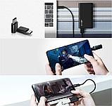 Blitzwolf BW-MT1 Type C Micro USB 1.5м кабель для быстрой зарядки данных 2 в 1 . Black ., фото 7