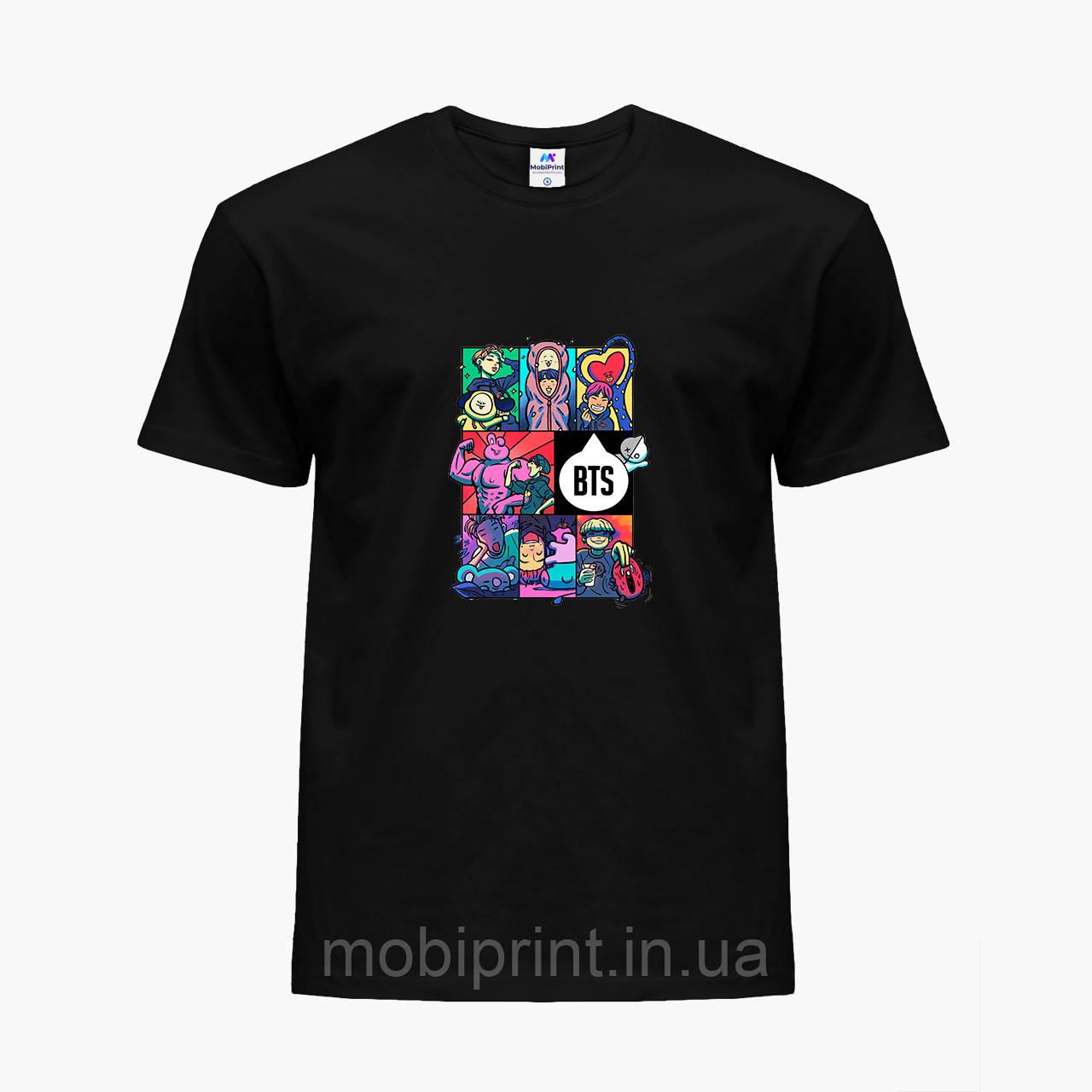Детская футболка для девочек БТС (BTS) (25186-1078) Черный