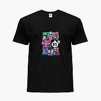 Детская футболка для девочек БТС (BTS) (25186-1078) Черный, фото 1