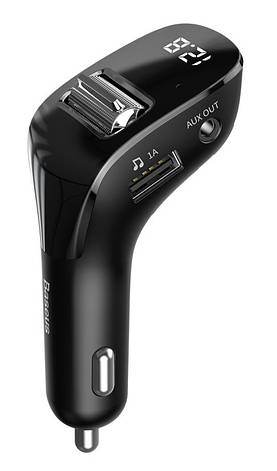 АЗУ FM-трансмиттер Baseus Streamer F40 Wireless MP3 Charger Черный (CCF40-01), фото 2