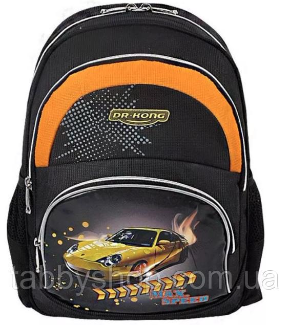 Рюкзак школьный ортопедический Dr. Kong Z173 Max Speed черный