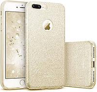 Чехол-накладка Remax Glitter для Apple iPhone 7 Plus Золотистый