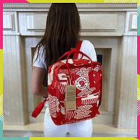 Рюкзак Fjallraven Kanken Classic Канкен 16 литров, Красный арт, Top replic, сумка, портфель городской