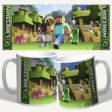 Чашки с принтом Minecraft