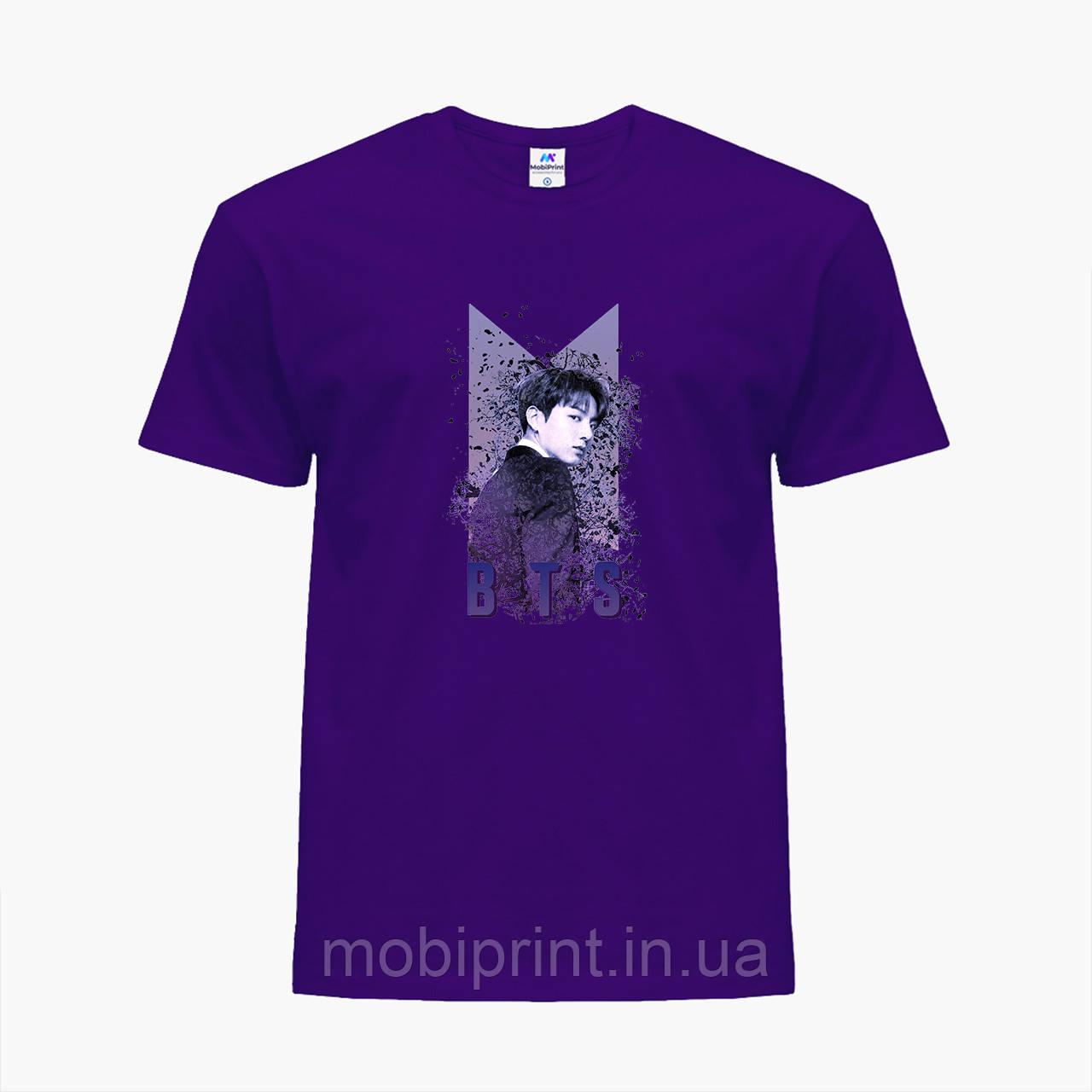 Детская футболка для девочек БТС (BTS) (25186-1065) Фиолетовый