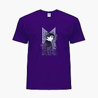 Детская футболка для девочек БТС (BTS) (25186-1065) Фиолетовый, фото 1