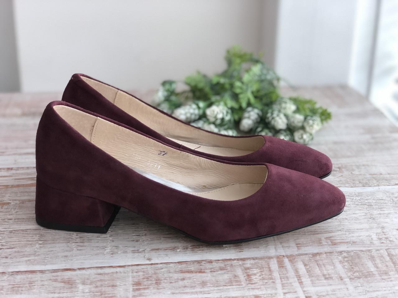 Кожаные Женские туфли 3211 размеры 36-40