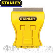 Скребок-мини STANLEY 0-28-218 для стекла, длина лезвия 43мм, 5 запасных лезвий.