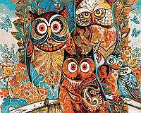 """Картина по номерам. Art Craft """"Яркие совы"""" 40*50 см 11603-AC"""