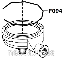 F094 Пружина(тримач сита у холдер), FAEMA