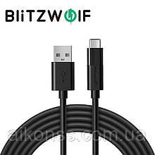 Blitzwolf BW-MT1 Type C Micro USB 1.5м кабель для быстрой зарядки данных 2 в 1 . Black .