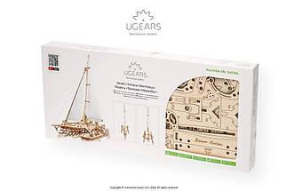 Тримаран Мерихобус UGears (237 деталей) - механічний дерев'яний 3D пазл конструктор, фото 2
