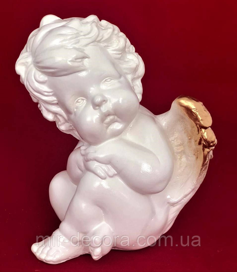 Фигурка Ангелочек Пупс, золото, 17 см