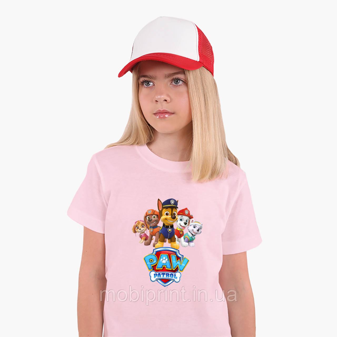 Детская футболка для девочек Щенячий патруль (PAW Patrol) (25186-1608) Розовый