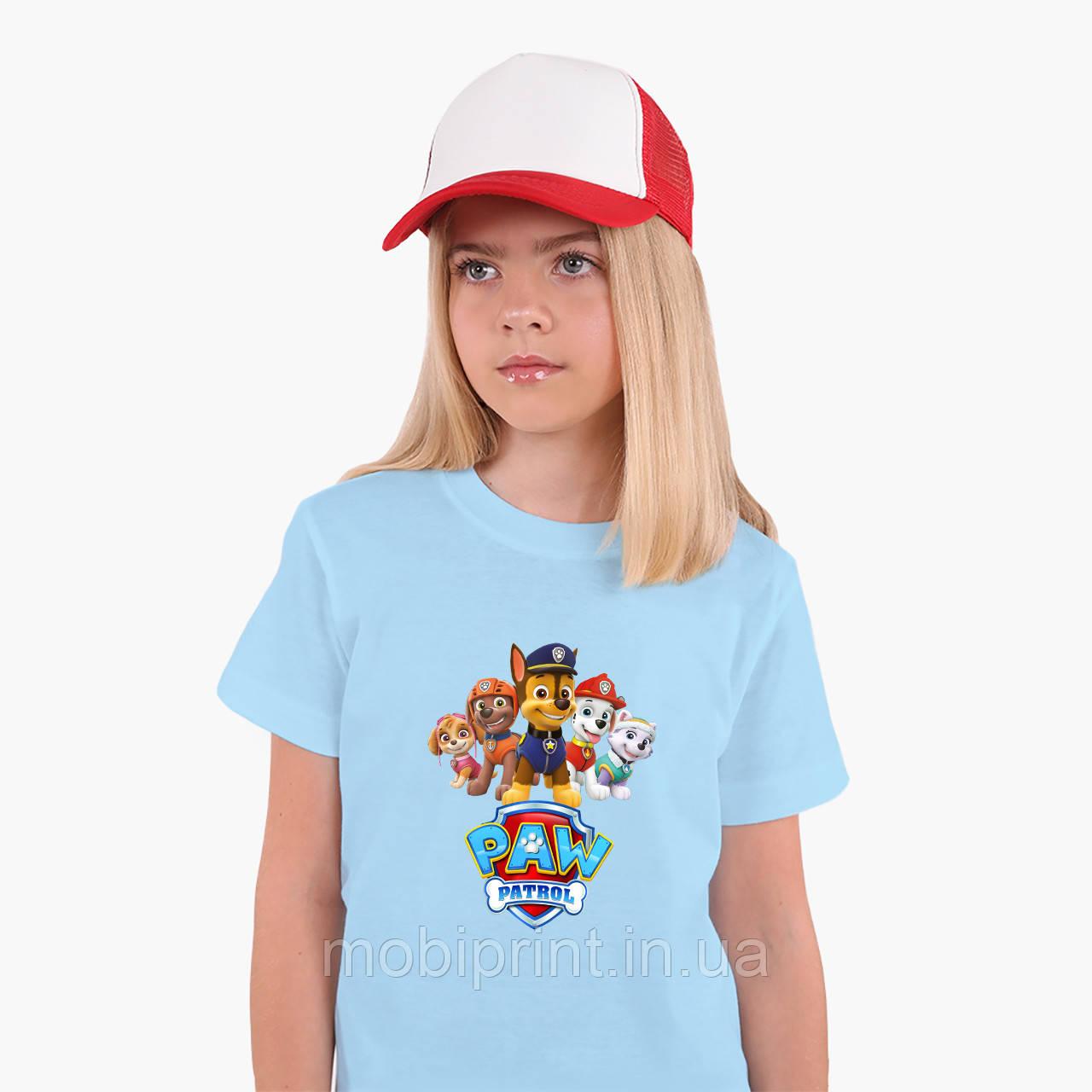 Детская футболка для девочек Щенячий патруль (PAW Patrol) (25186-1608) Голубой