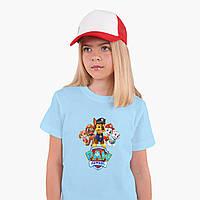 Детская футболка для девочек Щенячий патруль (PAW Patrol) (25186-1608) Голубой, фото 1