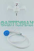 Смеситель в ванную и душ из термопластичного пластика Plamix Leo 009 - 2 white