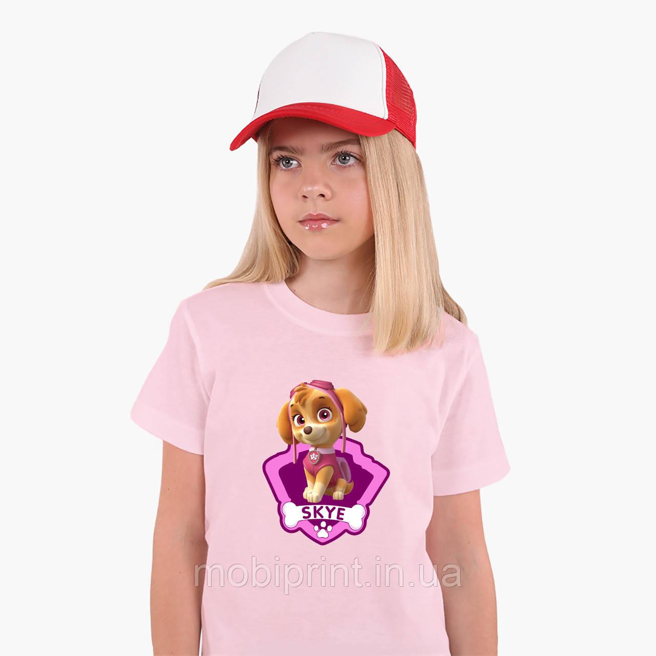 Детская футболка для девочек Щенячий патруль (PAW Patrol) (25186-1609) Розовый